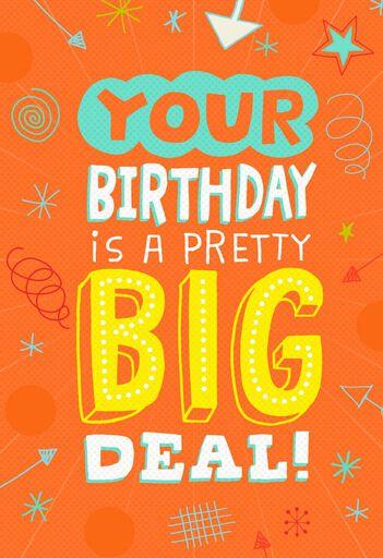 A Pretty Big Deal Musical Birthday Card