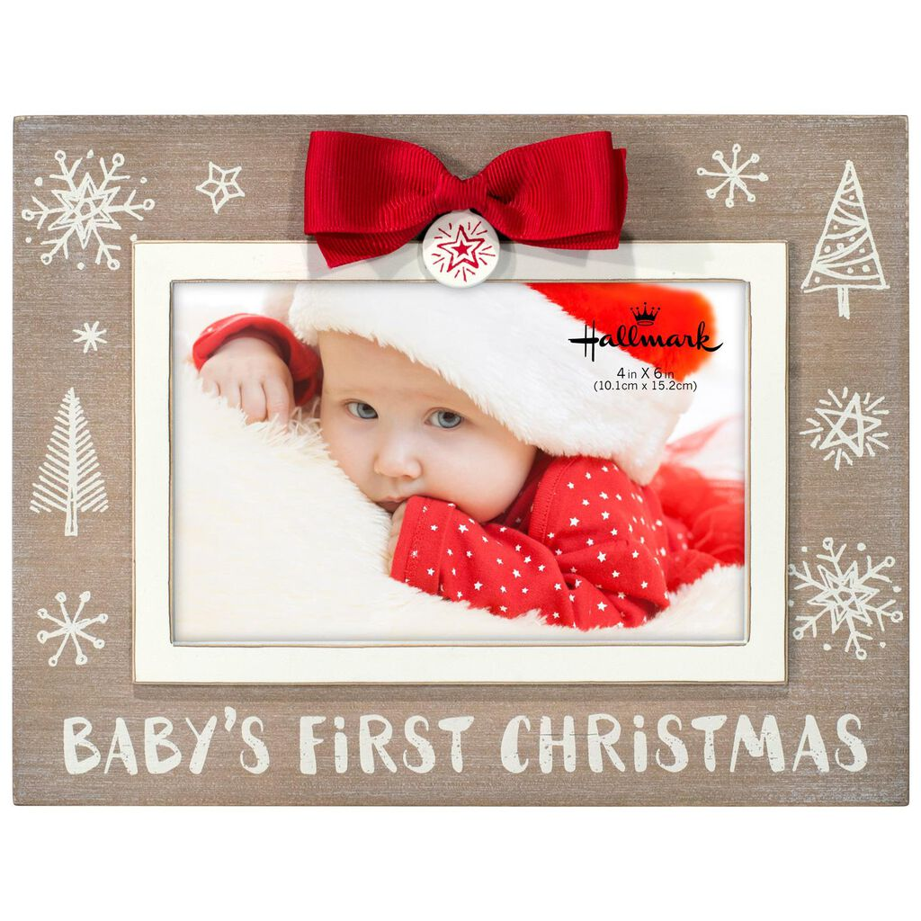 Babys First Christmas Wood Picture Frame 6x4 Picture Frames