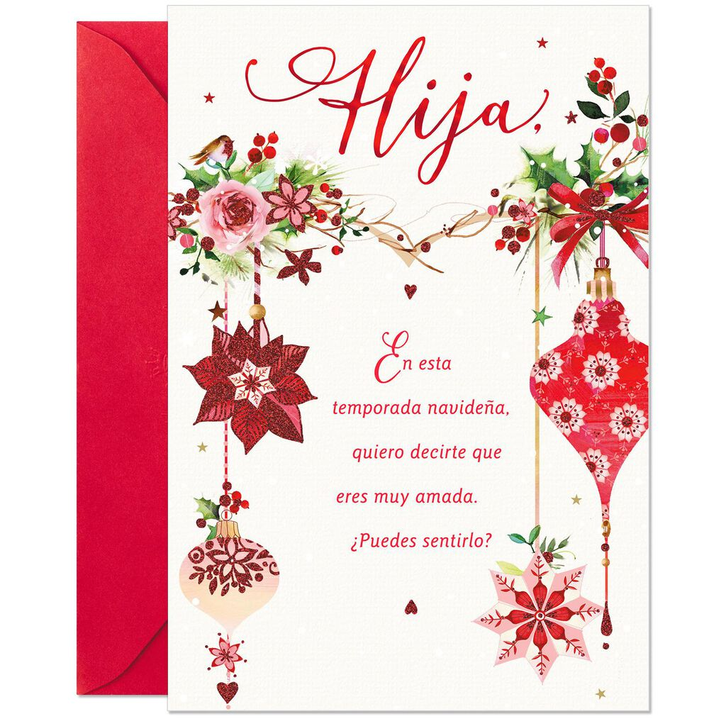 So Very Loved Spanish-Language Christmas Card for Daughter ...