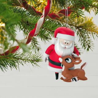 Rudolph the Red-Nosed Reindeer® Won't You Guide My Sleigh Tonight? Ornament With Light,