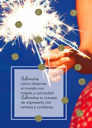 Love How You Sparkle Spanish-Language Birthday Card