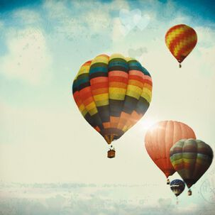 Hot Air Balloons Blank Card