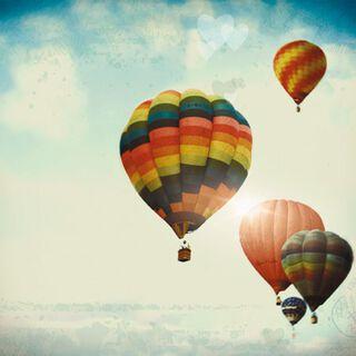 Hot Air Balloons Blank Card,