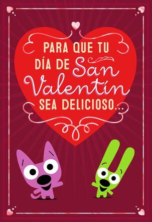 hoops&yoyo™ Chocolate Wishes Spanish-Language Valentine's Day Card