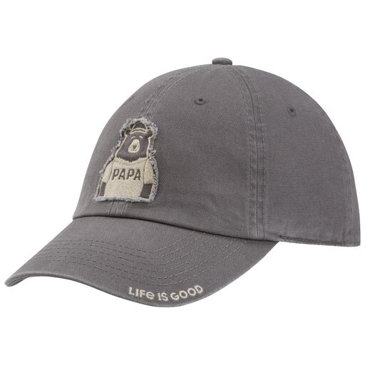 288b250a2ba9a Life is Good Men s Papa Bear Patch Gray Baseball Cap ...