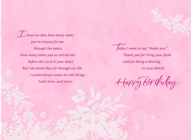 Praying Grandmother Birthday and Thank You Card Greeting Cards – Things to Say on a Birthday Card