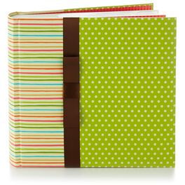 Springy Dots and Stripes Bookbound Photo Album, , large