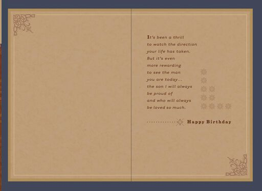 Proud Of The Man You Are Today Birthday Card For Son