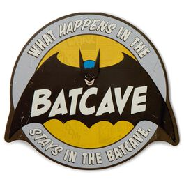 Batcave Embossed Metal Sign, , large