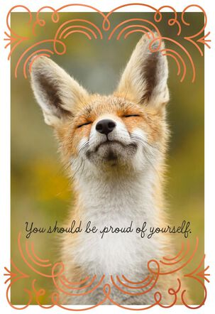 Proud Fox Congratulations Card