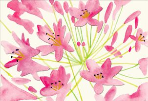 Dena Designs Pink Lilies Blank Thinking of You Card