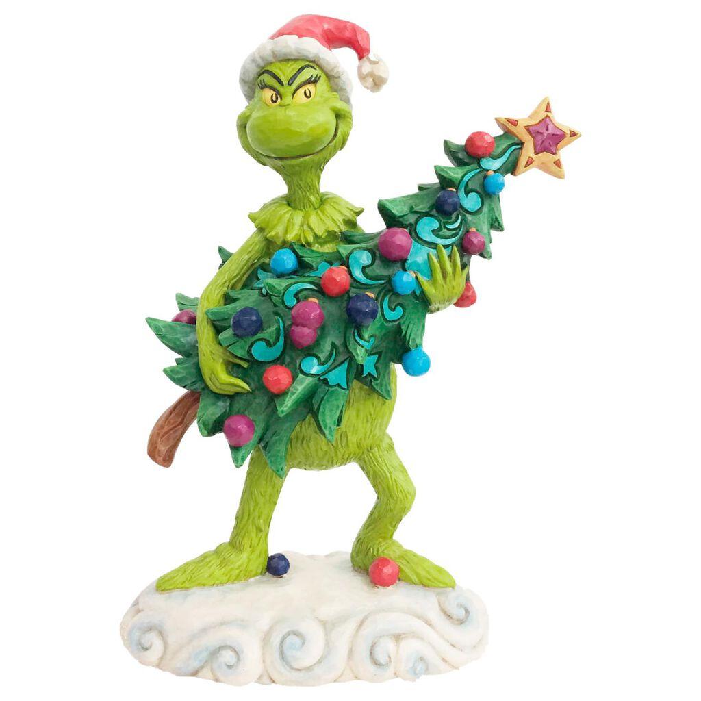 Jim Shore Grinch Stealing Christmas Tree Figurine, 8.5