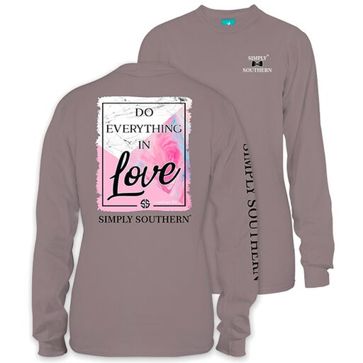 e46775de78c6b Simply Southern Women s Everything in Love Long Sleeve T-Shirt