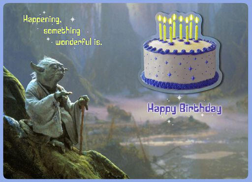 Yoda™ Joy and Celebration Birthday Card,