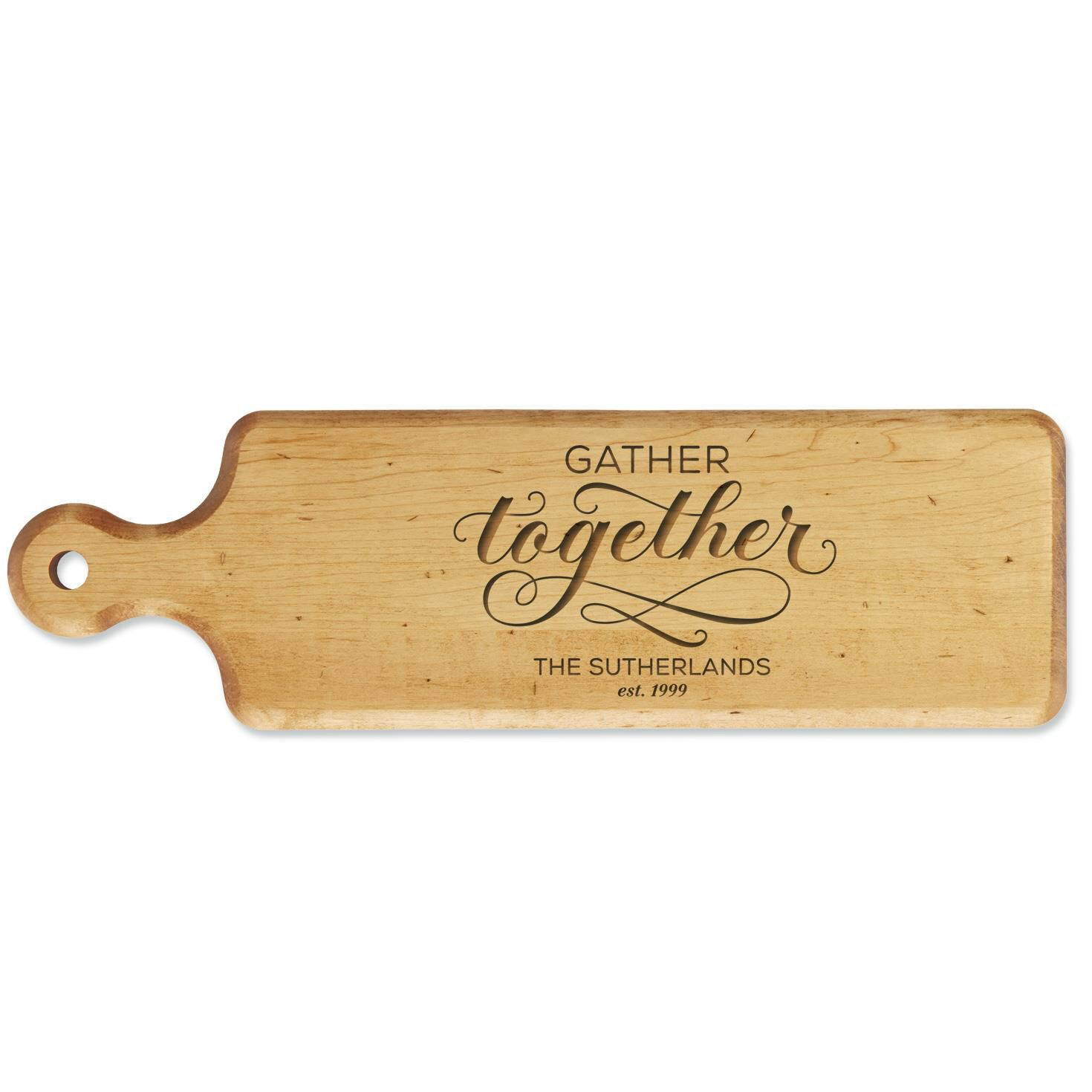 Gather Together Personalized Bread Board,