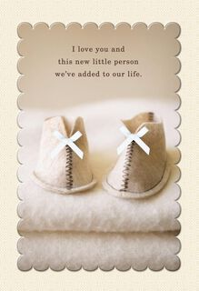 Baby Booties First Mother's Day Card for Wife,