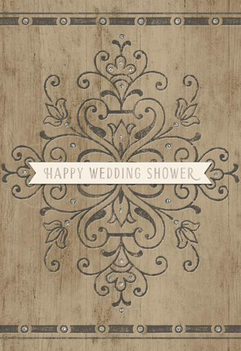 real love wedding shower card