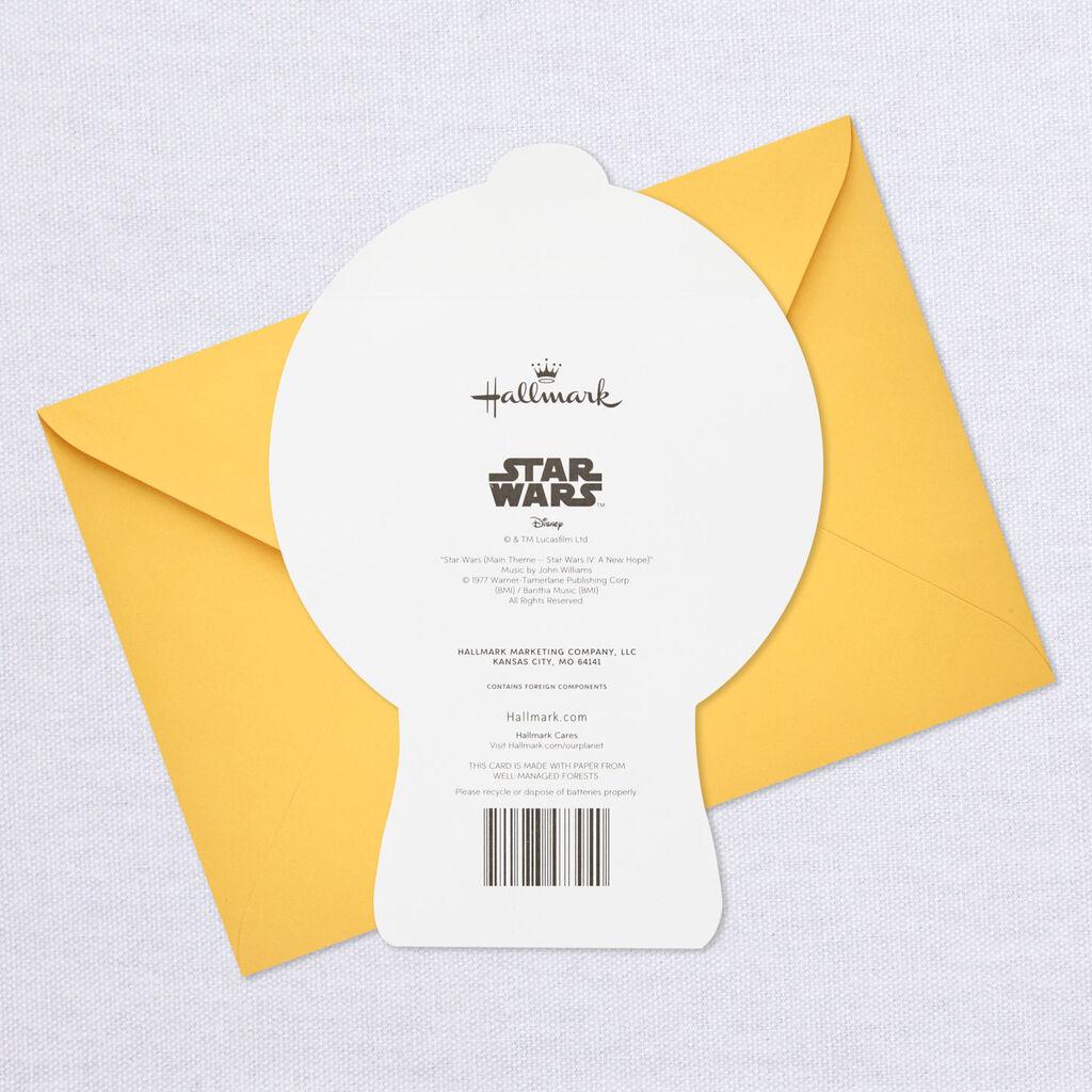 Star WarsTM LightsaberTM Musical Birthday Card With Light