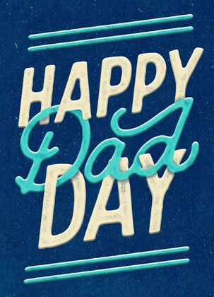 Happy Dad Day Father's Day Card