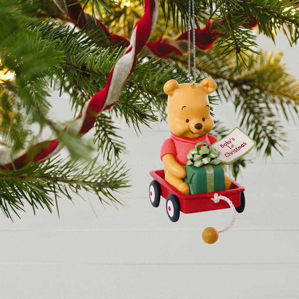 dc1b08134 ... Disney Winnie the Pooh Baby's First Christmas 2019 Ornament ...