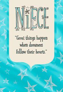 Follow Your Heart Graduation Card for Niece,