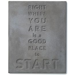 Good Place to Start Stamped Concrete Sign, 8x10, , large