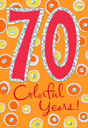 Colorful Circles 70th Birthday Card