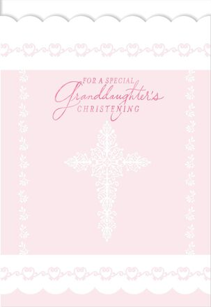 For a Special Granddaughter's Christening Card