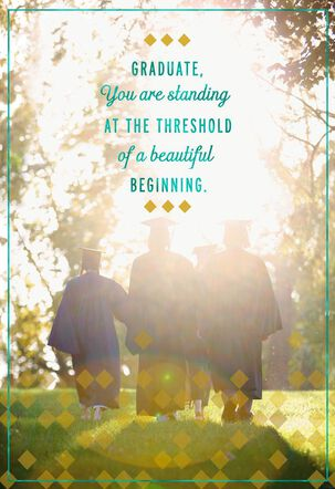 Beautiful Beginning Graduation Card