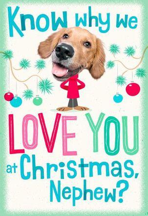 Just 'Claus Nephew Christmas Card
