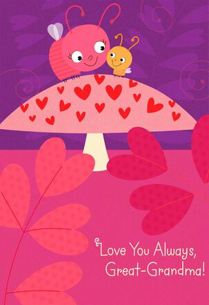 Bugs and Hearts Valentine's Day Card for Great-Grandma