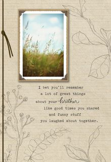 On the Loss of Your Brother Sympathy Card,