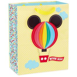 """Mickey Mouse Hot Air Balloon Baby Large Gift Bag, 13"""", , large"""