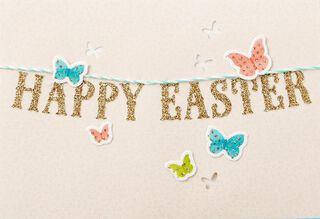 Bright Butterflies Easter Card,