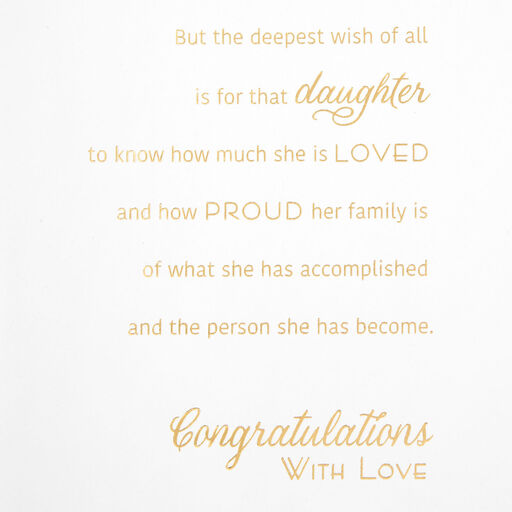 Daughter Chalkboard and Paisley Graduation Card - Greeting ...
