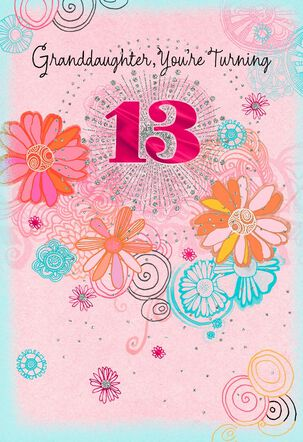 Your Time to Shine 13th Birthday Card for Granddaughter