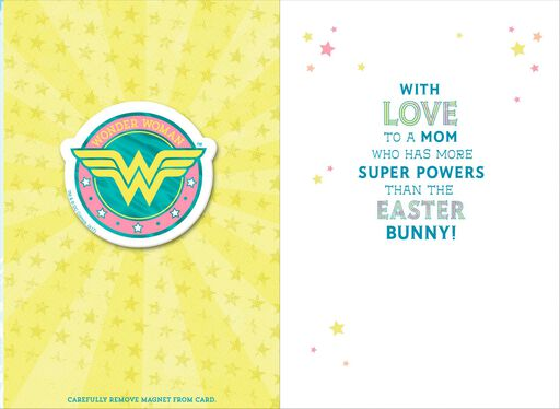 Wonder Woman™ Easter Card With Magnet for Mom,