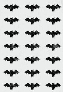 Bats Everywhere Halloween Card,
