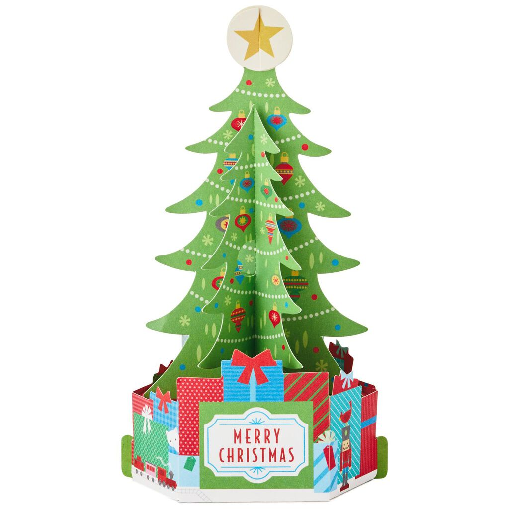 Holiday Tree With Presents Pop Up Christmas Cards Box Of 8 Boxed
