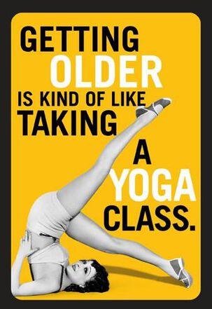 Vintage Yoga Pose Funny Birthday Card