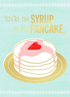 Syrup on Pancake Valentine's Day Card,