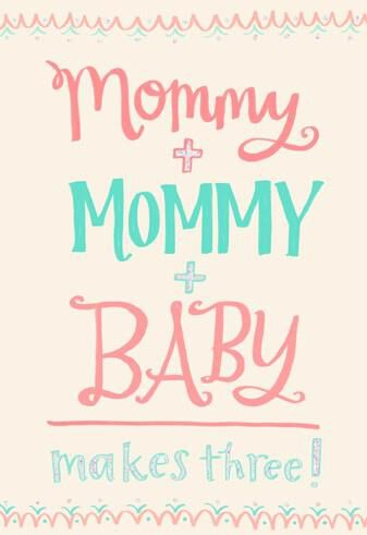 And Baby Makes Three Baby Shower Card Greeting Cards Hallmark