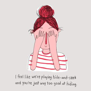 Too Good At Hide-and-Seek Miss You Card,