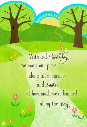Winding Path Life's Journey Birthday Card