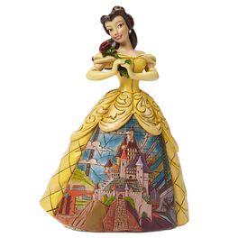 Jim Shore Enchanted—Belle with Castle Dress Figurine, , large