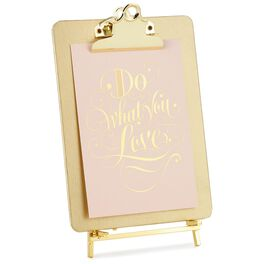 Gold Clipboard Picture Frame With Easel, , large