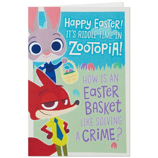 Disney Zootopia Easter Riddle Card For Kids