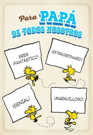 Snoopy and Woodstock Spanish-Language Father's Day Card for Dad from All