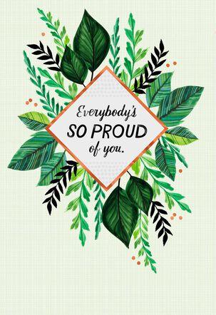 Bouquet of Greenery Congratulations Card