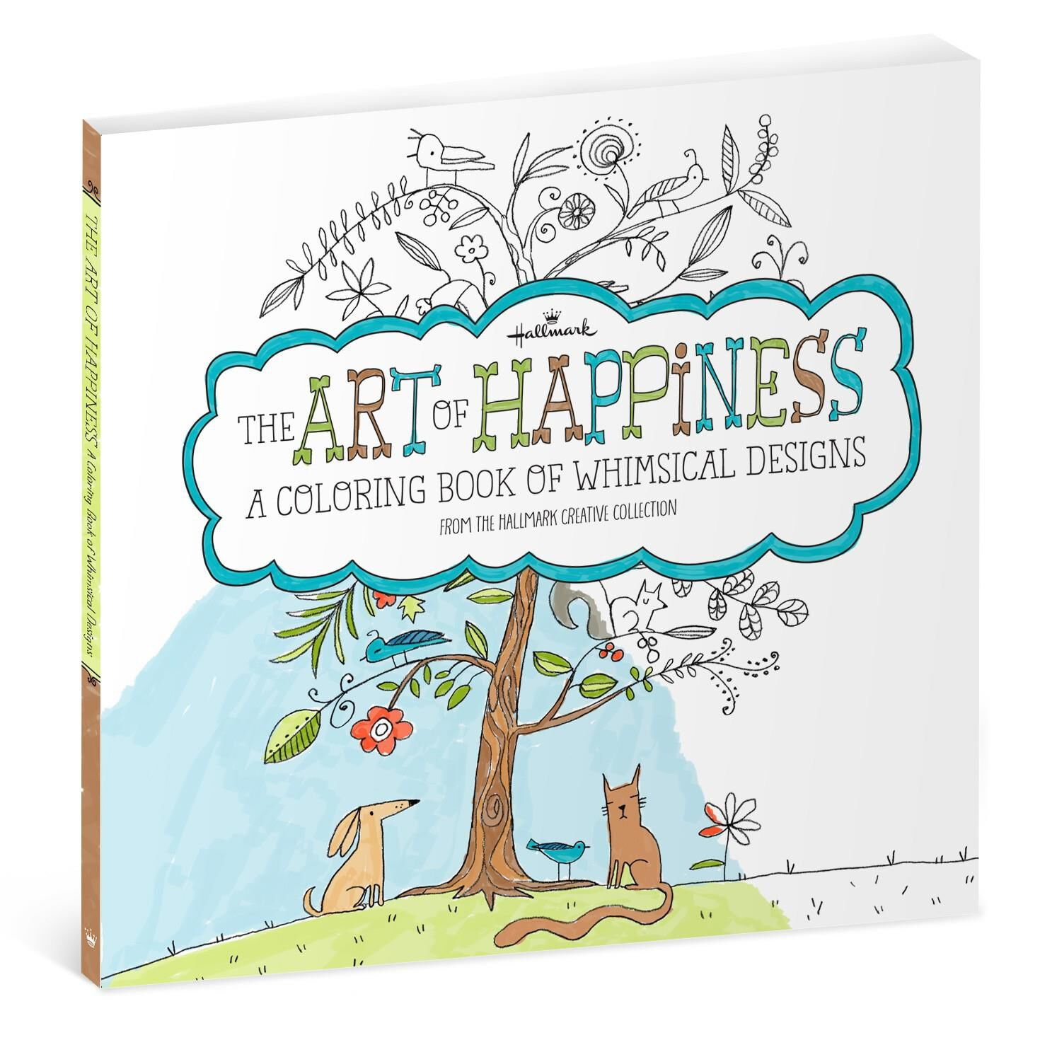 The Art of Happiness Whimsical Designs Coloring Book for Adults ...